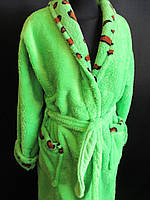 Однотонные махровые халаты с воротником