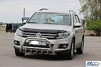 Защита переднего бампера (кенгурятник)  VW Tiguan I (11-16)