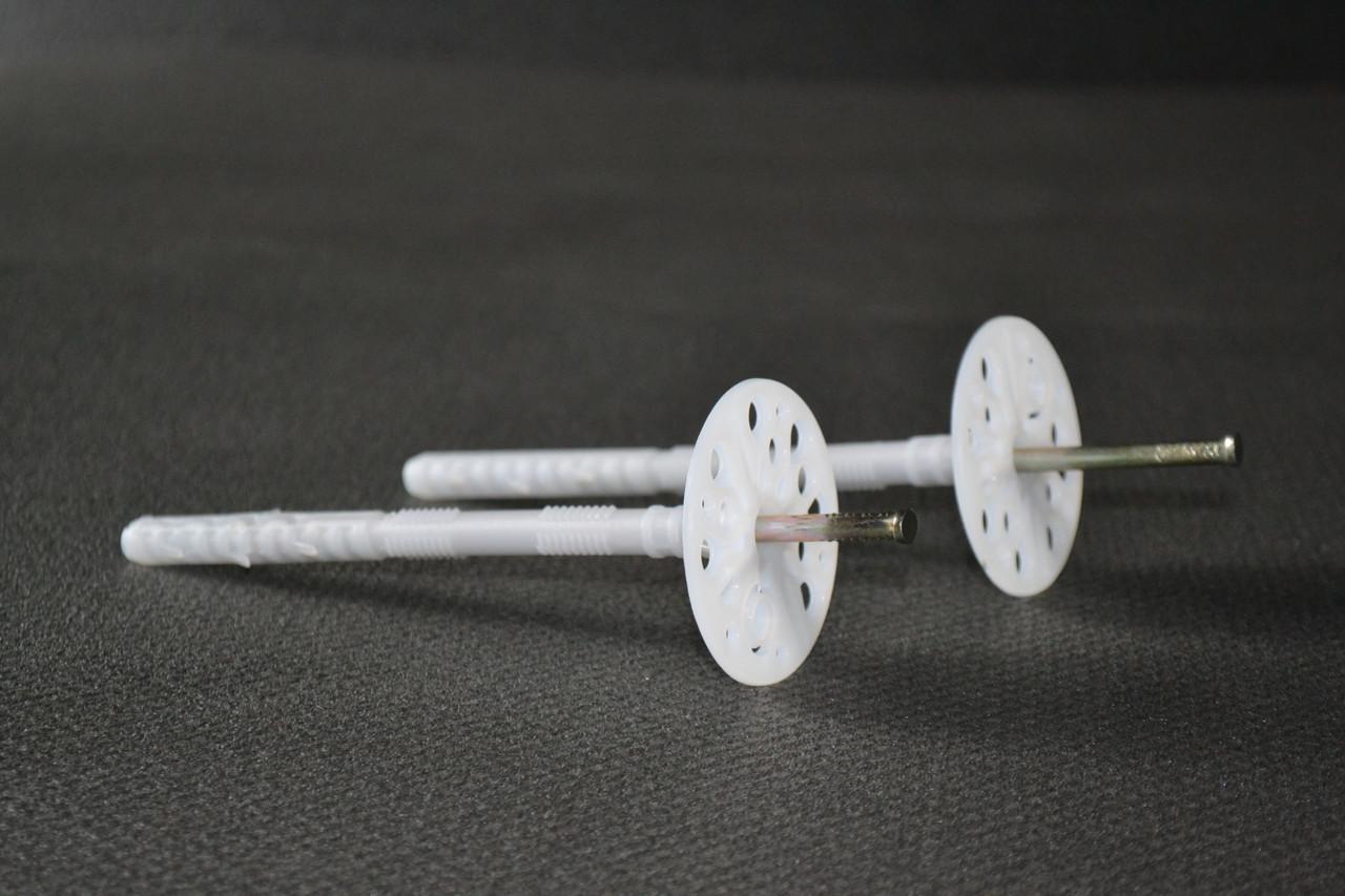 Дюбель-зонт монтажный с оцинкованным гвоздем и термозаглушкой (премиум) 10х140мм.