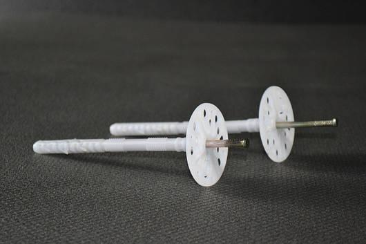 Дюбель-зонт монтажный с оцинкованным гвоздем и термозаглушкой (премиум) 10х160мм.