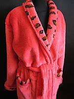 Женские теплые халаты с воротником., фото 1