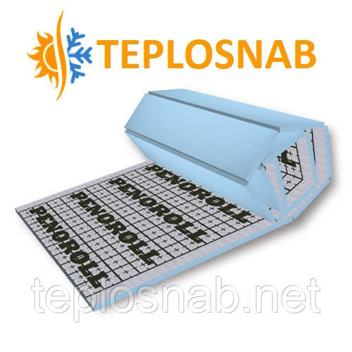Мат для теплого пола PENOROLL 50 теплоотражающий из экструдированного пенополистирола