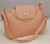 Женская сумка Louis Vuitton с клапаном, цвет пудра ( розовая ) Луи Виттон