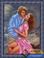 Схема для вышивки бисером - Влюбленная пара на море, Арт. ЛБч4-24