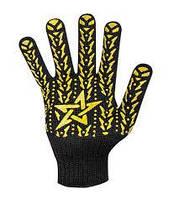 Перчатки рабочие звезда черная