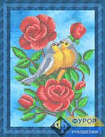 Схема для вышивки бисером - Птицы в розах, Арт. ЖБч4-57