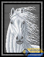 Схема для вышивки бисером - Белогривая лошадь, Арт. ЖБп4-062