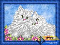 Схема для вышивки бисером - Пара котят, Арт. ЖБч4-51