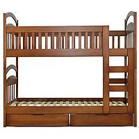 Детская деревянная кровать Карина цвет орех