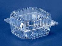 Контейнер пластиковый с откидной крышкой ПС-11 (V1250мл\155*155*80) (50 шт)