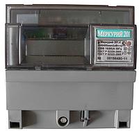 Счетчик электроэнергии Меркурий 201.4 230В 10(80)А ЖКИ, однофазный, однотарифный, ,кл.т. 1.0, DIN-рейка
