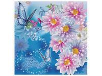 """Пакет с пластиковой ручкой средний """"Голубая бабочка"""" (10 шт)"""