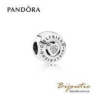 Pandora шарм ПОДРУГА #792145CZ серебро 925 Пандора оригинал