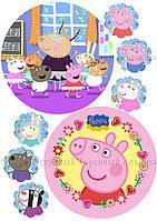 Друк їстівного фото - Ø14,5 см - Вафельна папір - Свинка Пеппа №22