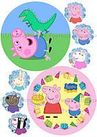 Друк їстівного фото - Ø14,5 см - Вафельна папір - Свинка Пеппа №24