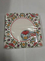 Праздничная салфетка (ЗЗхЗЗ, 20шт)  La Fleur  Украинские яйца 555 (1 пач)