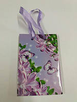 Пакет бумажный подарочный  МИНИ 8*12*3.5 арт48 (12 шт)