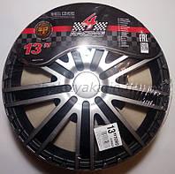 Автомобильные колпаки 4 Racing R13 TORO SILVER BLACK