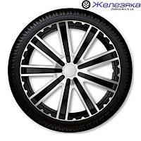 Автомобильные колпаки на колеса 4 Racing R14 TORO SILVER BLACK