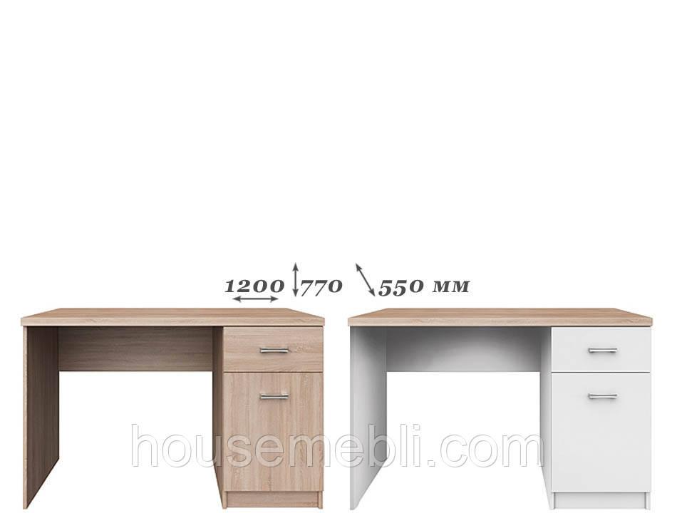 Стол письменный Топ Микс 1д1ш 120