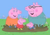 Печать съедобного фото для капкейков - А4 - Вафельная бумага - Свинка Пеппа №32, фото 1
