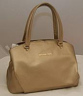 Женская сумка Michael Kors с двумя змейками, цвет золото Майкл Корс MK