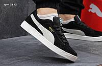 Мужские кроссовки Puma Suede, черно-белые