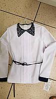 Детская школьная блузка для девочки Польша 152, 158