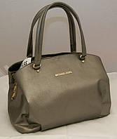 Женская сумка Michael Kors с двумя змейками, цвет металлик Майкл Корс MK