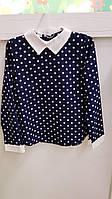 Детская школьная блузка для девочки Польша 128