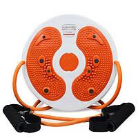 Спортивный диск с эспандерами Waist Twisting Disc