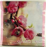 """Пакет з пластиковою ручкою середній """"Рожеве дерево"""" (10 шт)"""