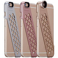 Чехол-накладка + набор линз Momax  X-Lens Ace for iPhone 6 Plus/6S Plus gold