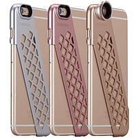 Чехол-накладка + набор линз Momax X-Lens Ace for iPhone 6 Plus/6S Plus silver