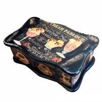 Деревянная шкатулка для чайных пакетиков Кофейная
