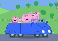 Печать съедобного фото для капкейков - А4 - Вафельная бумага - Свинка Пеппа №52, фото 1