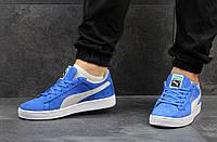 Кроссовки мужские Puma Suede, ярко-синие