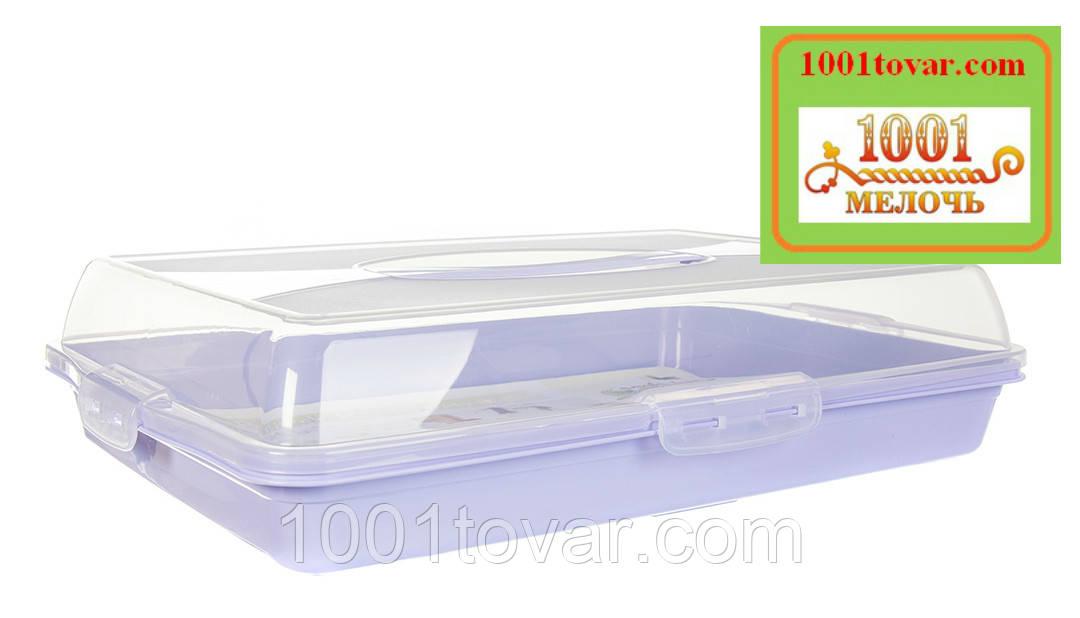 Тортовница прямоугольная пластиковая с ручкой для переноски. Dunya Plastik, Турция - фото 6