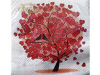 Салфетки столовые (ЗЗхЗЗ, 20шт) La Fleur  Любовное дерево (057) (1 пач)