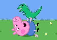 Печать съедобного фото для капкейков - А4 - Вафельная бумага - Свинка Пеппа №65, фото 1