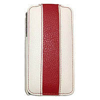 Rada leather case for iPhone 3G, white/red (A22)