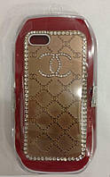 С камнями Chanel soft drill shell for iPhone 5/5S, rose gold