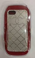 С камнями Chanel soft drill shell for iPhone 5/5S, silver