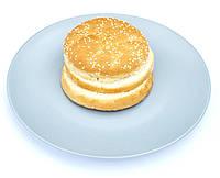 Булочка для гамбургеров пшеничная с кунжутом 100г с двойным разрезом (замороженная)