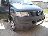 Ресницы на фары Volkswagen T-5 Transporter/ Caravelle/ Multivan 2004- ABS пластик
