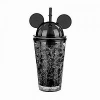Охлаждающий стакан Микки Маус Ice Cup (450 мл) черный