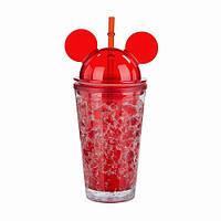 Охлаждающий стакан Микки Маус Ice Cup (450 мл) красный, фото 1