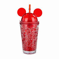 Охлаждающий стакан Микки Маус Ice Cup (450 мл) красный