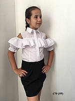 Блузка на девочку школьная 670 (09)