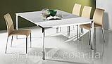 Раздвижной стол-консоль со стеклянной столешницей VEGA фабрика BONTEMPI (Италия), фото 4